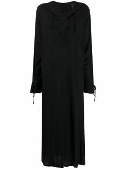 Ann Demeulemeester расклешенное платье с завязками на воротнике 20012216P119099
