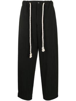 Ann Demeulemeester брюки свободного кроя с кулиской 20073406166