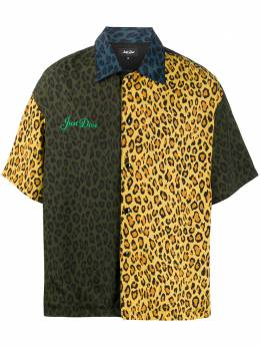 Just Don рубашка с леопардовым принтом и короткими рукавами SLWU