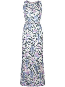Marchesa Notte платье с цветочной вышивкой N38M1924