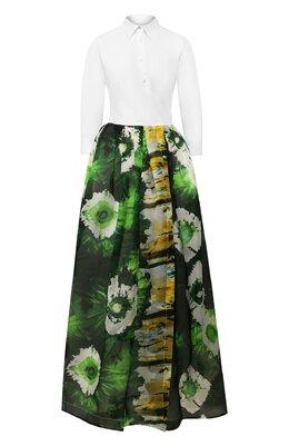 Платье из смеси хлопка и шелка Sara Roka ELENATL0NG/35-SS2001