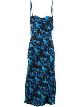 Marine Serre платье с цветочным принтом D023SS20W