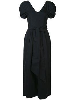 Gabriela Hearst платье миди с пышными рукавами 220445T030