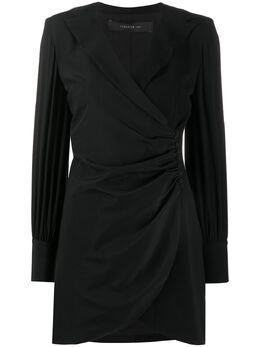 Federica Tosi платье с запахом и длинным рукавами FTE20AB093