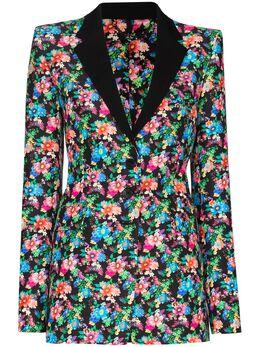 Paco Rabanne блейзер с цветочным принтом 20ECVE050CO0337