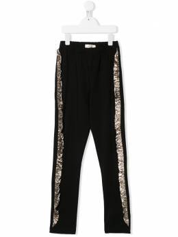 Andorine брюки с контрастными оборками с эффектом металлик ADS2014T