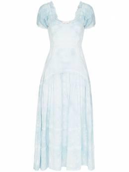 Loveshackfancy платье Jeanette со складками LD732616
