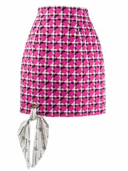 Versace твидовая короткая юбка A85624A232908