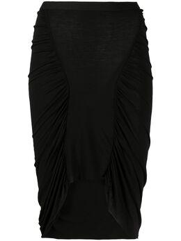 Rick Owens Lilies юбка Tecuatl со сборками LI20S2305R