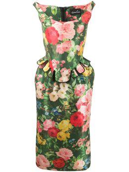 Richard Quinn платье-бюстье с цветочным принтом RQSS2019