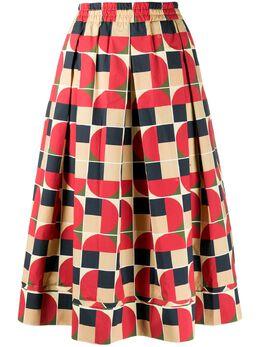 Fay юбка миди с геометричным принтом NXW9240696SRWC1B08