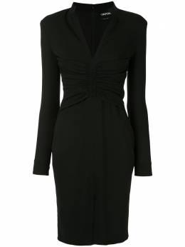 Tom Ford приталенное платье с V-образным вырезом AB2769FAX605