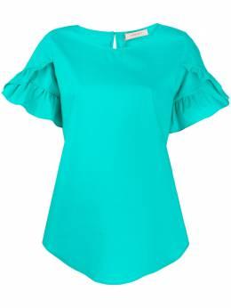Twin-Set поплиновая блузка с оборками 201TT2030