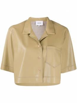 Nanushka укороченная рубашка с короткими рукавами WSB00138RHETT