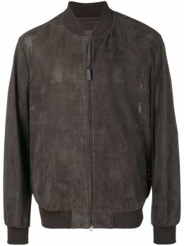 Brioni куртка-бомбер с перфорацией PLS90LP87073233