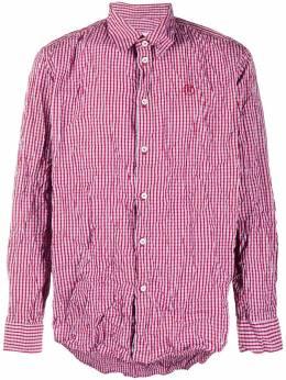 Martine Rose клетчатая фактурная рубашка с длинными рукавами MRSS20428