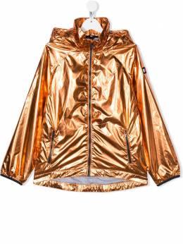 Tommy Hilfiger Junior ветровка с капюшоном и эффектом металлик KG0KG05016