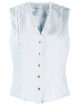 Acne Studios джинсовый жилет Recrafted с бахромой AC0230