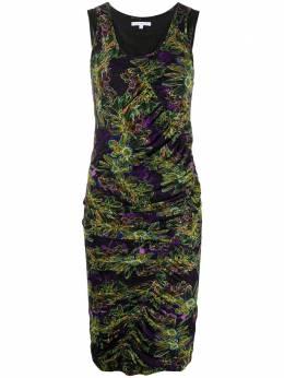 Patrizia Pepe платье с цветочным принтом и сборками 2A2014A6W5