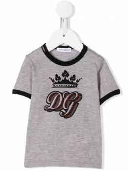 Dolce & Gabbana Kids футболка с принтом DG Royals L1JTBCG7VLN