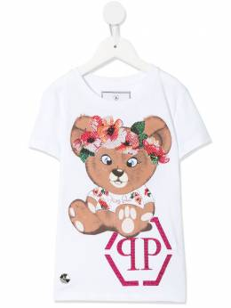 Philipp Plein Junior декорированная футболка с принтом S20CGTK0475PJY002N