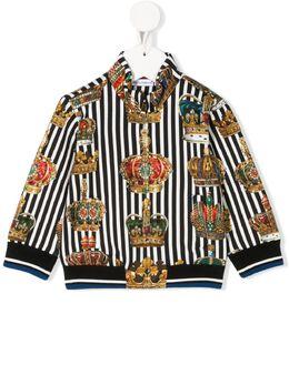 Dolce & Gabbana Kids толстовка на молнии с принтом L1JW7THS7AP