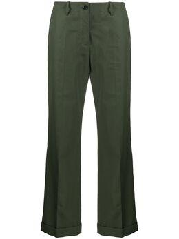 Aspesi расклешенные брюки с завышенной талией и подворотами H107D307086
