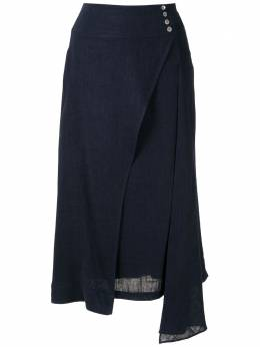 Olympiah юбка миди Ylang асимметричного кроя 120153