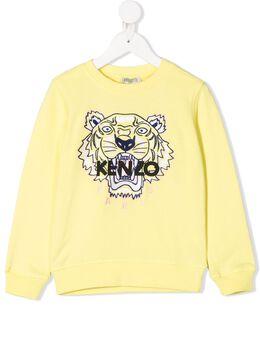 Kenzo Kids толстовка с вышитым логотипом KQ15118