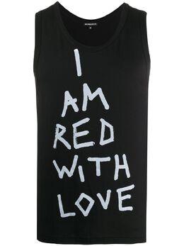 Ann Demeulemeester топ Red With Love без рукавов 20013977240