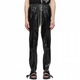 Rick Owens Black Silk Drawstring Slim Astaires Trousers RR20S7390 CEB