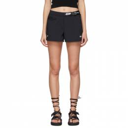 Off-White Black Active Belted Shorts OWVH004S20FAB0011001