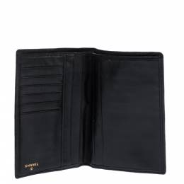 Chanel Black Quilted Leather Vintage Bifold Wallet 286123