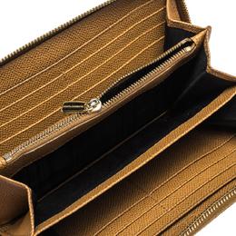 Dolce&Gabbana Tan Leather Strappy Zip Around Wallet 285972