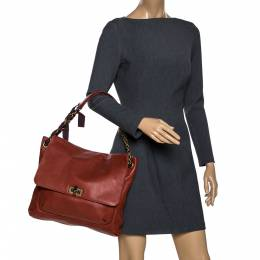 Lanvin Marron Leather Happy Shoulder Bag 282518