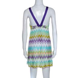 Missoni Mare Multicolor Chevron Knit Cover Up Mini Dress S 285889