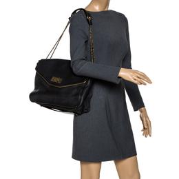 Chloe Black Leather Sally Shoulder Bag 282419