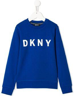 DKNY Kids толстовка с логотипом D25C92829