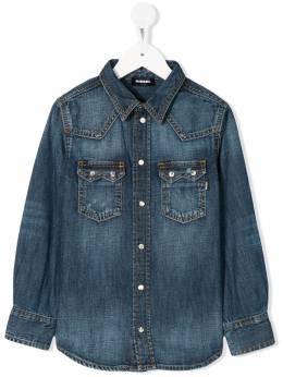 Diesel Kids джинсовая рубашка кроя слим 00J4QNKXB3F