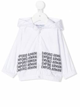 Emporio Armani Kids рубашка с капюшоном и логотипом 3HHC881N6RZ