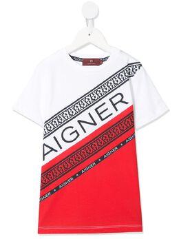 Aigner Kids футболка с логотипом 53908