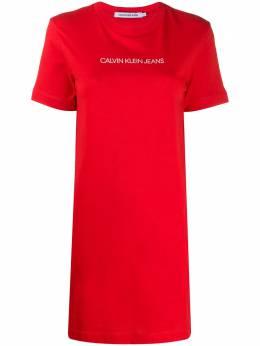 Calvin Klein Jeans платье-футболка с логотипом J20J213702