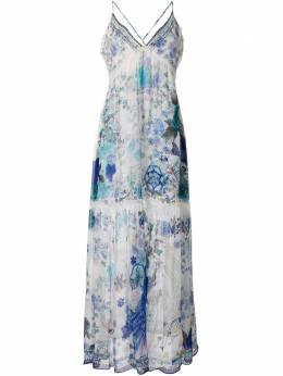 Camilla присборенное платье White Moon с принтом 00003699