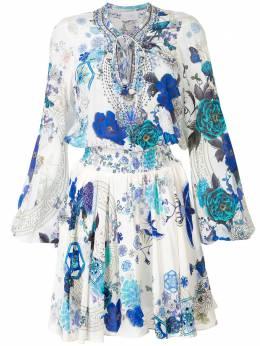 Camilla присборенное платье White Moon с принтом 00005322