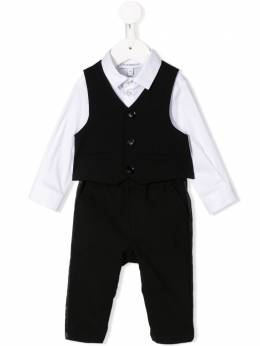 Emporio Armani Kids рубашка с вышитым логотипом 3HH8104N3FZ