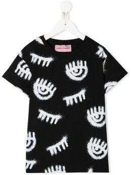 Chiara Ferragni Kids футболка с принтом CFKT016B