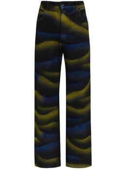 Eckhaus Latta джинсы широкого кроя с завышенной талией 334ELSS20SD
