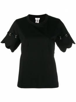 Comme Des Garcons Noir Kei Ninomiya футболка с короткими рукавами и фестонами 3ET007S20