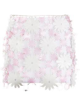 Paco Rabanne юбка мини с цветочным принтом 20EIJU118PS0222