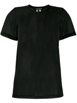 Junya Watanabe футболка с короткими рукавами и прозрачной вставкой JET020S20